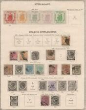 STRAITS SETTLEMENTS: 1867-1882 - Ex-Old Time Collection - Album Page (34951)