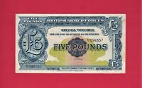 BRITISH ARMED FORCES (BAF) SPECIAL VOUCHER: 5 POUNDS 1950 (F) (P-M23) 2nd Series