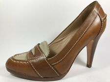 Cole Haan Nike Air Penny Loafer Pumps Brown Leather Womens Sz 9 Medium High