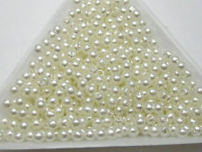 2000 Ivory Faux Pearl Round Beads Imitation Pearl 3mm Seed Beads Spacer