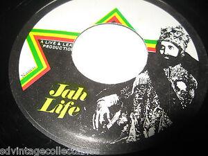 "Reggae Live 7"" Record 45 Jah Life Reggae Record Jamaica VG+"