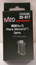 KATO N Scale Unitrack 2'' Single Track Piers 5pk 23017