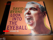 DAVID BYRNE rare ADVANCE CD Look Into the Eyeball Mike Mangini Thom Bell