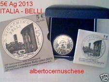 5 euro Italia 2013 argento fdc 150 ° morte Gioacchino BELLI Italie Italy Italien