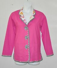 Koos Of Course Reversible Solid/Printed Jacket  Size 1X  Fuchsia