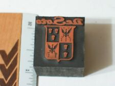 Desoto Printers Block Letterpress , (**)