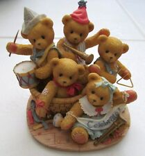 "Cherished Teddies Figurine1996 ""Strike Up The Band"" #205354 L/E 7I9/613"