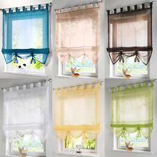 GS:Vorhang Gardine Fenstervorhang Raffrollo Raffgardine Scheibengardinen 4 Größe