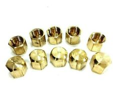 Hvac 10 Pack 14 Inch Flare Brass Hex Caps Freon Refrigerant Access Port Covers