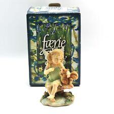 Faerie Glen LEVAWHISPER Child Fairy & Squirrel Friend Figurine FG8087 2007
