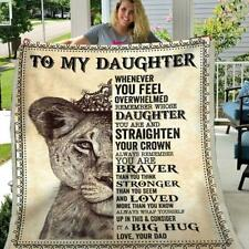 Lion King To My Daughter You're Braver Than You Think Love Your Dad Blanket