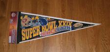 1994 San Francisco 49ers vs San Diego Chargers Super Bowl XXIX pennant SB 29