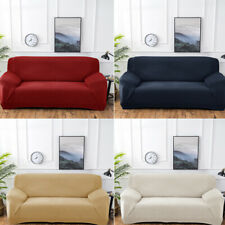12 3 4 Seater Elastic Knitted Settee Thick Universal Sofa Covers Couch Slipcover