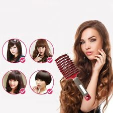 Woman Boar Bristle & Nylon Hair Brush Anti-static Hair Paddle Scalp Comb  AAzz