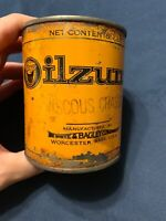Antique Vintage Oilzum 1 Lb White & Bagley Company Oil Grease Can