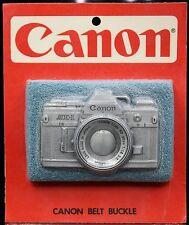 Vtg Rare 1970's Canon AE-1 SLR Camera Photography Photographer Belt Buckle NEW