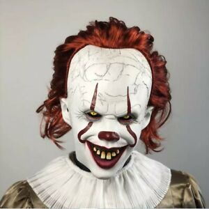 LED Stephen Kings Es Maske Pennywise Horror Clown Joker Fur Halloween Cosplay DE