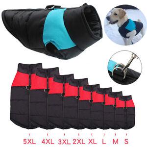 Winter Warm Dog Clothes Waterproof Pet Padded Vest Zipper Jacket Coat For Dogs