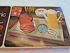 Vintage Cornwall Gray Stripe Electric Heating Tray Tested And Hot! Original Box