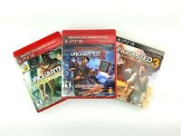 Lot Uncharted Drake 1 Used 2 Factory Sealed 3 Used Playstation 3 PS3 Video Games