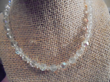 "VINTAGE CRYSTAL CHOKER NECKLACE 13"" W/3"" EXTENDER"