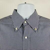 Bobby Jones Collection Mens Blue Min Check Dress Button Shirt Sz Medium M
