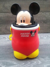 """Rare Vintage DISNEY Mickey Mouse Water Carrier Bucket Storage Flask Large 10"""""""