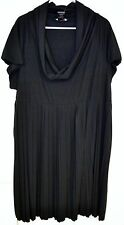 JFW Just For Wraps Ladies Plus Size Black Dress Deep Cowl Neck NEW