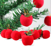 AM_ 12PCS CHRISTMAS APPLE HANGING ORNAMENTS XMAS TREE SHOWCASE PARTY DECOR OPULE