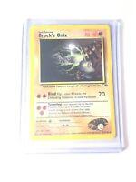 BROCK'S ONIX - Gym Heroes  - 21/132 - Rare - Pokemon Card - EXC/NM