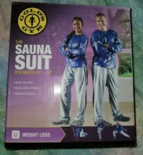 "Golds Gym Sauna Suit, S/M waist 24""-32"" inch, new In Box."