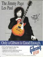 Gibson Guitars - Les Paul Jimmy Page - Led Zeppelin - 1996 Print Ad