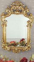 Spiegel Barock Wandspiegel gold Rahmen Antik Badspiegel 54 cm x 32 cm Blumen