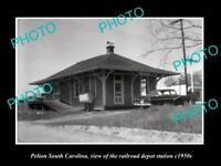 OLD HISTORIC PHOTO OF PELION SOUTH CAROLINA, RAILROAD DEPOT STATION c1950s
