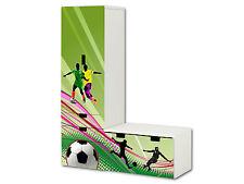 Fußball Aufkleber passend für STUVA Kombi (L-Form) von IKEA - SL12