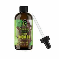 Golden Jojoba Oil Pure Organic - 4 oz Cold-Pressed Unrefined Natural Oil