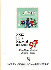 DOCUMENTO FILATELICO F.N.M.T. Nº44 FERIA NACIONAL SELLO COMICS CAPITAN TRUENO