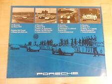 Original Porsche Rennplakat  24 Std. von Le Mans