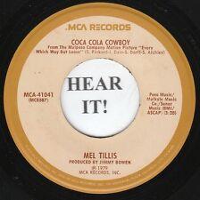 Mel Tillis 70s C & W S/T 45 (MCA 41041) Coca Cola Cowboy/Cottonmouth VG++