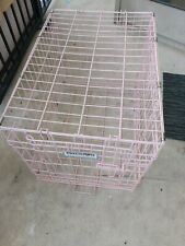 Precision Pet product Pink Double Door Wire Dog Crate
