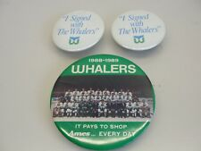 LOT 3 HARTFORD WHALERS HOCKEY PINS 1988 1989 AMES / I SIGNED WITH THE WHALERS