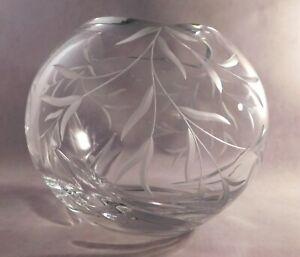 """Large LENOX """"Opal Innocence Collection"""" Crystal Vase, Bowl, Rose Bowl - Signed"""