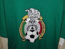 "Men's XL 22"" MEXICO 2014 WORLD CUP adidas T Shirt Football Soccer Green"