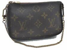 Auth Louis Vuitton Monogram Mini Pochette Accessoires Pouch M58009 LV B0168
