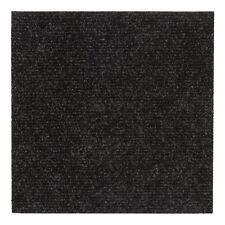 Teppichfliesen selbstklebend Bodenbelag Teppich Gerippt Salsa Schwarz (7,16€/1qm