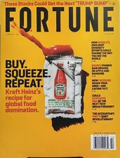 Fortune Feb 1 2017 Heinz's Recipe for Global Food Domination FREE SHIPPING sb