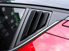 For Toyota C-HR 2016- 2019 ABS Matte Black Rear Window Shutter Cover Trim 2pcs