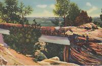 Linen Postcard A669 Natural Bridge Petrified Forest Arizona Willis Curteich