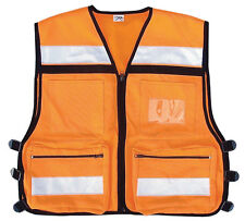 Reflective Safety Rescue Vest Orange Medic EMS EMT High Visibility Rothco 9561