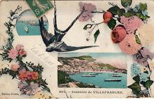 VILLEFRANCHE-SUR-MER 394 souvenir de double-vue éd giletta timbrée 1909